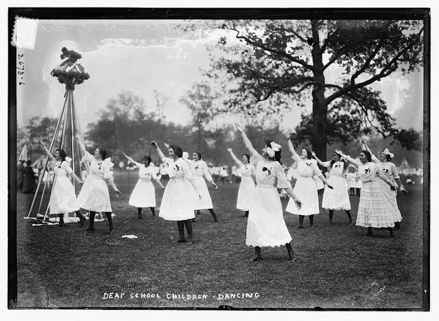 Deaf school children - dancing  (LOC)
