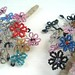 Antique French Beaded Flowers