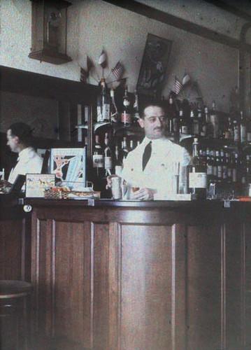 Art Deco French Bar Half A Stereo Autochrome C 1930