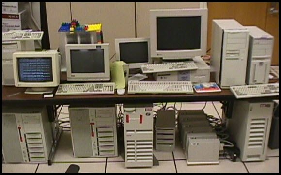 Before google became google the original setup at for Data center setup
