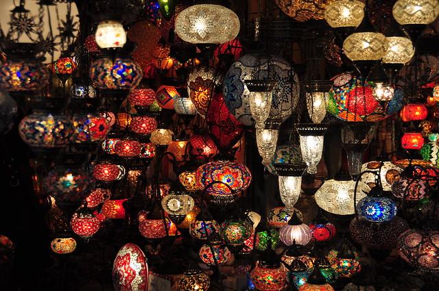 Les llums del Gran Basar. Istambul.