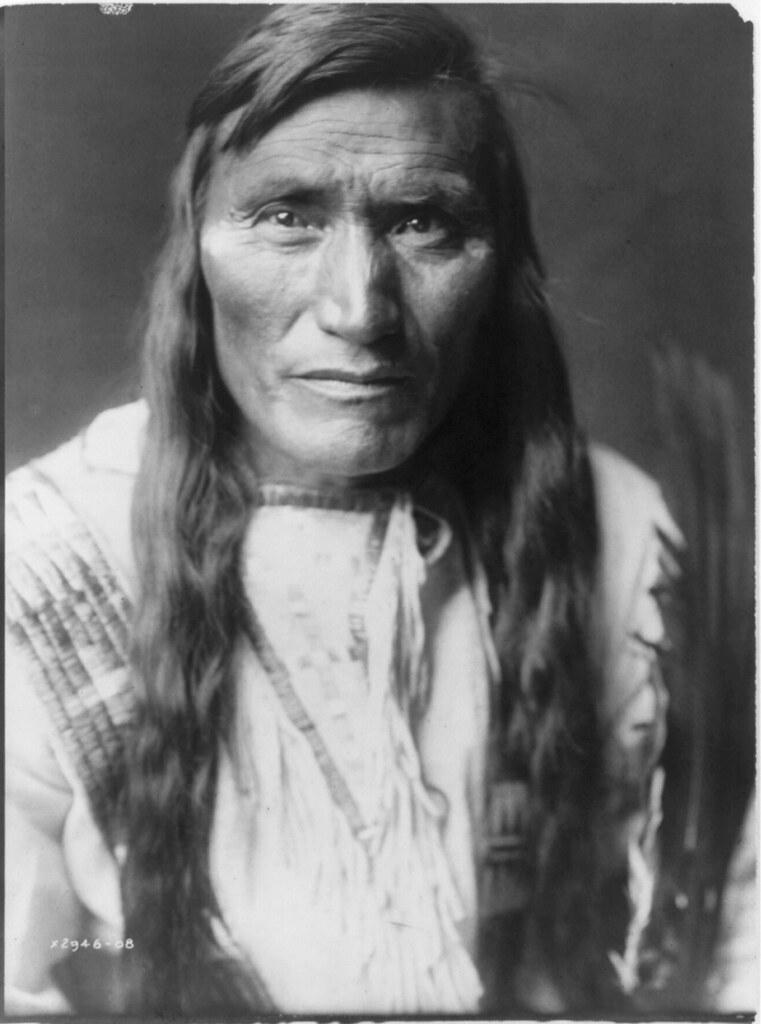 Native American Edward Curtis Atsina Man With Long Hair Flickr