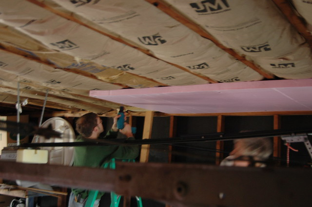 Insulating A Garage Ceiling With Room Above