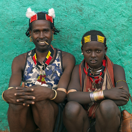 Hamar tribe couple Ethiopia