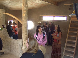 Inside the cob house