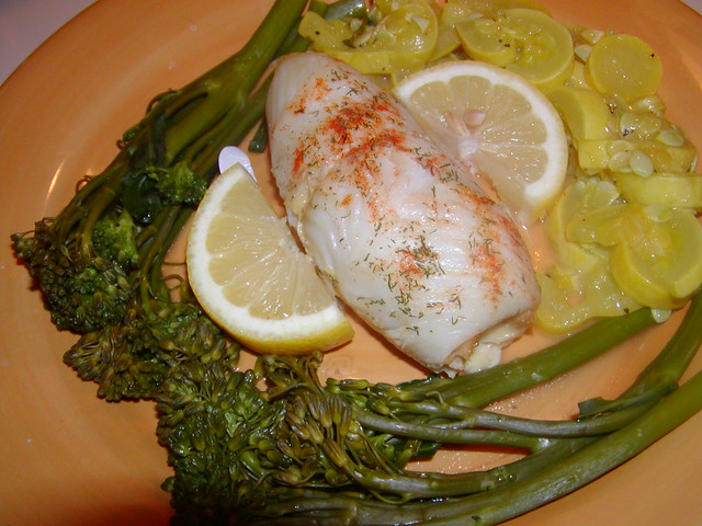 crab stuffed sole with broccollini | Flickr - Photo Sharing!