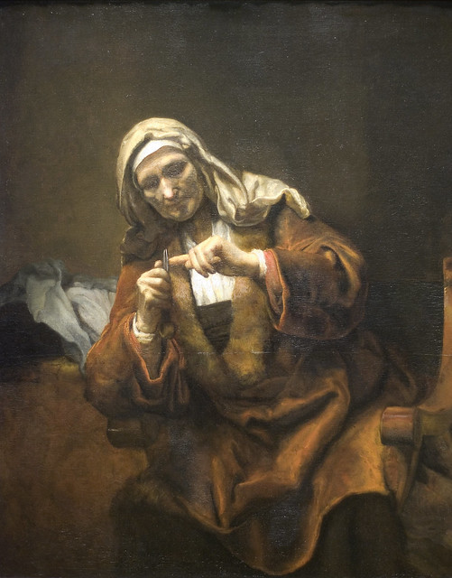 Old Woman Cutting Her Nails (or, the most disturbing painting at the MET)