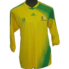 active shirt(1.0), sports fan jersey(1.0), sports uniform(1.0), clothing(1.0), yellow(1.0), sleeve(1.0), sportswear(1.0), t-shirt(1.0),