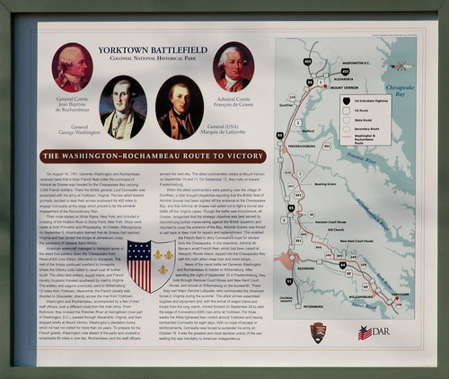The Washington – Rochambeau Route to Victory, Yorktown Battlefield (The Washington-Rochambeau Route marker series.)