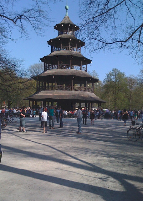 the chinese pagoda in munich 39 s english gardens flickr photo sharing. Black Bedroom Furniture Sets. Home Design Ideas