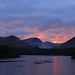 Sunset Fire and ice Derwentwater by lakeslover2010