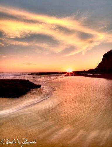 santa sunset beach golden day cruz khalid mywinners ghamdi