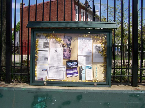 Bulletin board, Park, 11th and Monroe NW