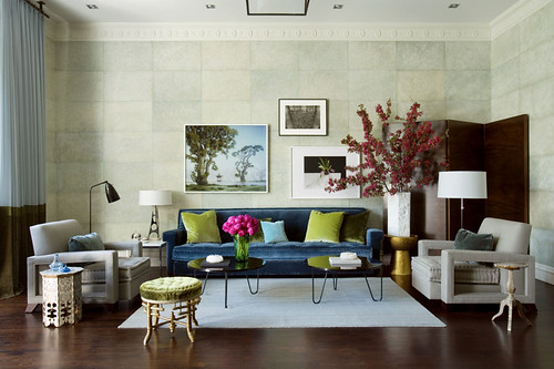 Living rooms in blue and brown simple home decoration for Blue and green living room ideas