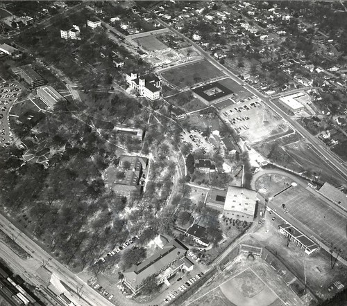 Wofford College Aerial Photo - March 1963