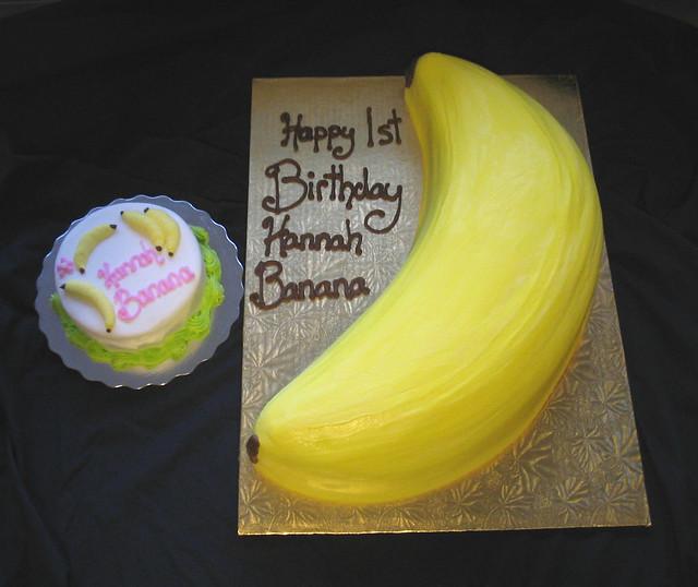 Торт своими руками бананы