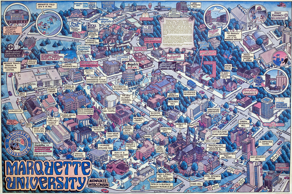 1988 89 Marquette University campus map | This unofficial Ma… | Flickr