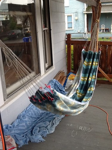 gathered end hammock with rope ends  clew  and exploration  rh   hammockforums