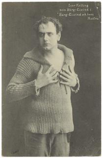 """Ivar Kalling som Bärg-Eiwind i """"Bärg-Eiwind och hans Hustru"""" (ca. 1916)"""