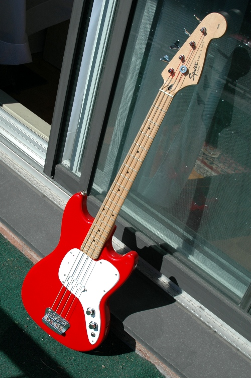 finished squier bronco bass to musicmaster bass conversion. Black Bedroom Furniture Sets. Home Design Ideas