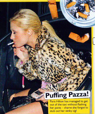 Paris hilton exposed upskirt