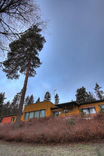 trees camp sky building tree church parish architecture finland landscape geotagged condemned hdr mäntsälä tonemapped tonemap 5exp seurakunta leirikeskus ahvenlampi