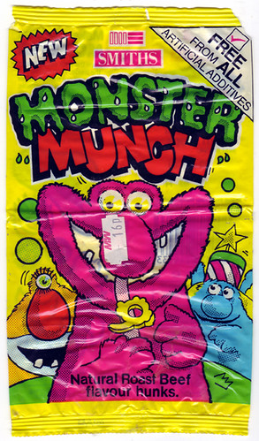 Smiths Monster Munch Roast Beef Crisps 1988