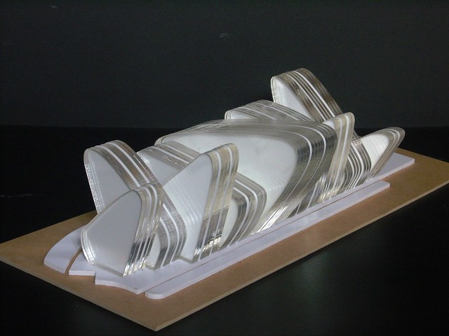 Final design concept model for the tate brighton gallery for Architectural concept models