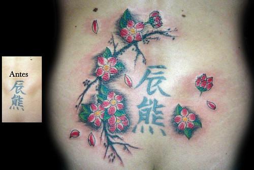 cool design kanji flower software tattoos. Black Bedroom Furniture Sets. Home Design Ideas