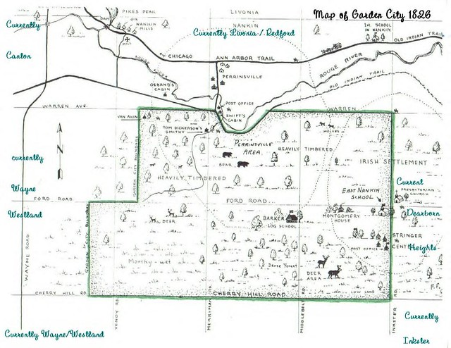 Map Of Garden City Michigan In 1826 Flickr Photo Sharing