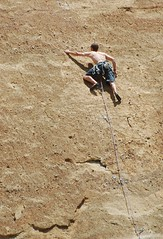 Climbing on Smith rock