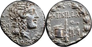 Roman Provinces Tetradrachm, Macedon Aesillas the Quaestor, Alexander the Great, Club chest chair wreath 16g10 AM#0376-16