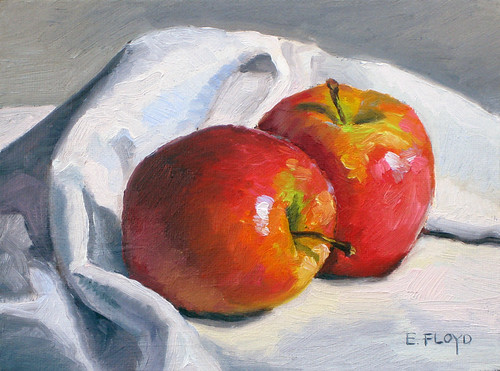 12 2008 two apples - daily painting