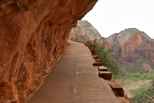Climbing up to Angel's Landing (Zion National Park)
