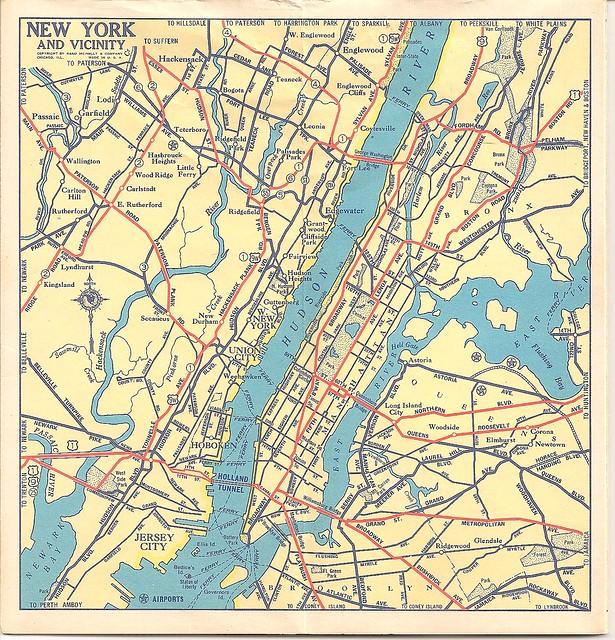 Metro Nyc Map--mid 1930s