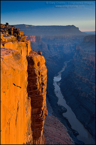 Golden Cliff At Sunrise Over The Colorado River At