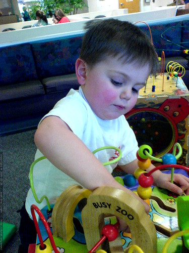 playing in the pediatric waiting area   DSC02907