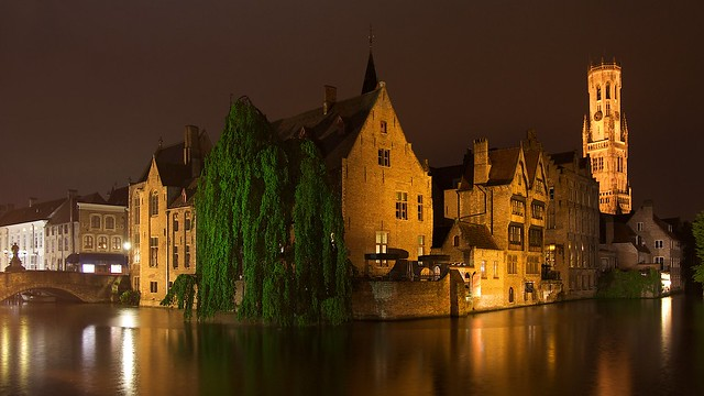 Rainy night in Bruges