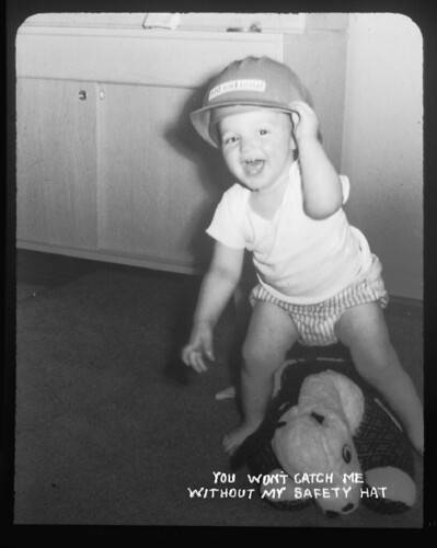 Baby with hard hat, 1959 | Item 63262, Engineering ...