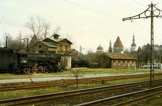 Soviet Steam Locomotive L class 2-10-0, Л 4015,Tallinn, May 1996