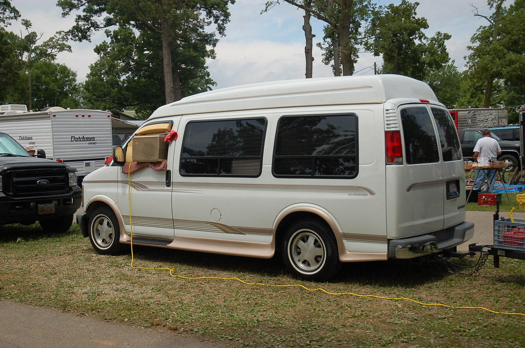 Window Unit Air Conditioner Mounted In Van Window A