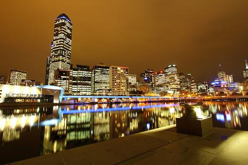 Australia Melbourne city lights
