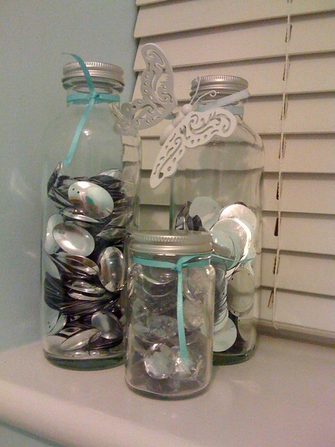 Sequin jars