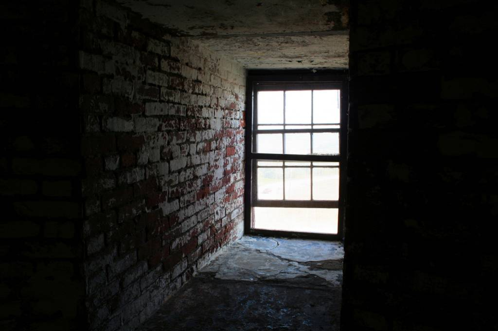Window in Old Cape Henry Lighthouse