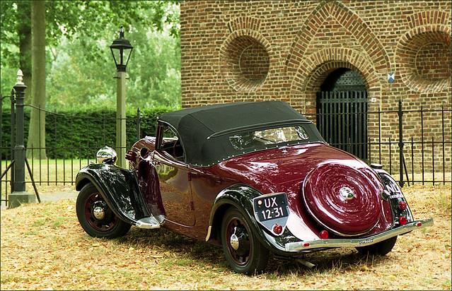 citro n traction avant cabriolet 1937 closed top flickr photo sharing. Black Bedroom Furniture Sets. Home Design Ideas
