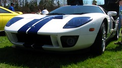 race car(1.0), automobile(1.0), vehicle(1.0), performance car(1.0), automotive design(1.0), ford gt40(1.0), ford gt(1.0), ford(1.0), land vehicle(1.0), supercar(1.0), sports car(1.0),