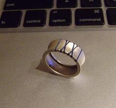 Sandblasted sterling silver