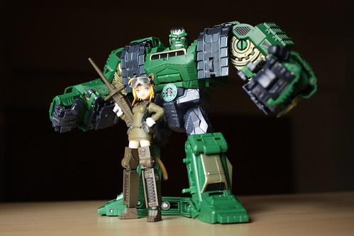 Hulk and girl friend.