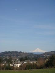 Moon above Mt. Hood - Portland, OR