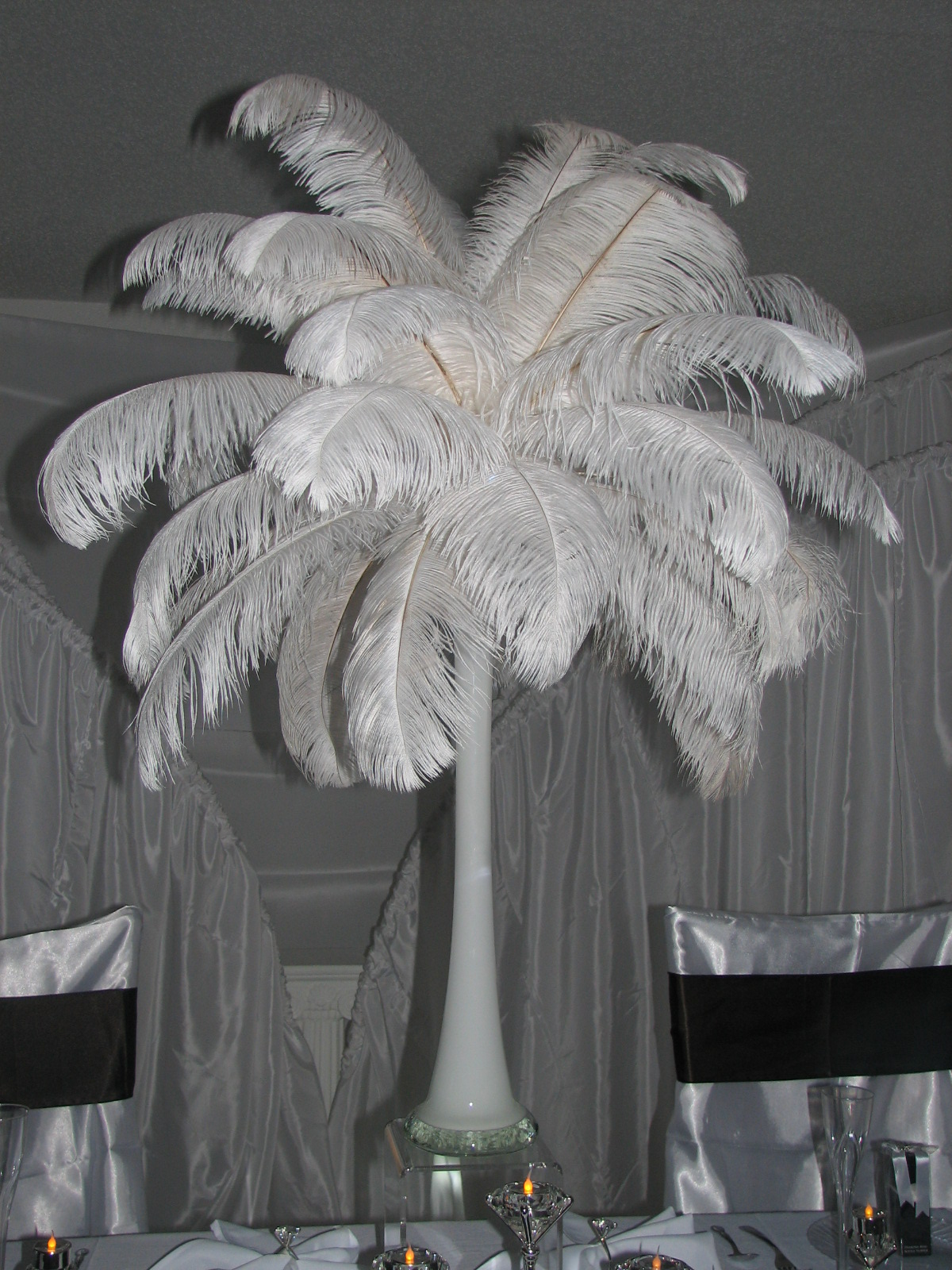 ostrich feather centerpiece decorations flickr photo